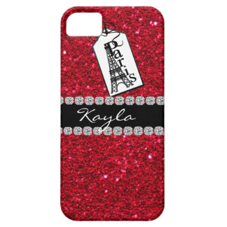 Paris Them Crystal BLING RUBY RED IPHONE  5 Case