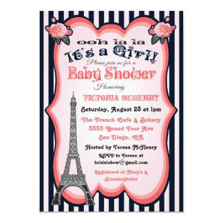 Paris theme Baby Shower Invitations