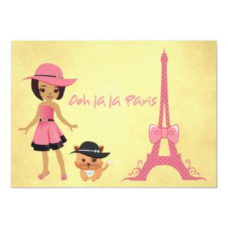 Paris theme birthday invitation
