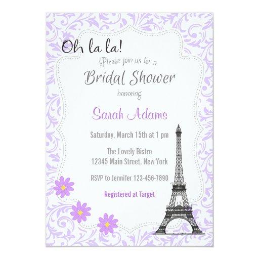 Paris theme bridal shower invitation zazzle for Paris themed invitations bridal shower