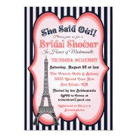 Paris theme Bridal Shower Invitations