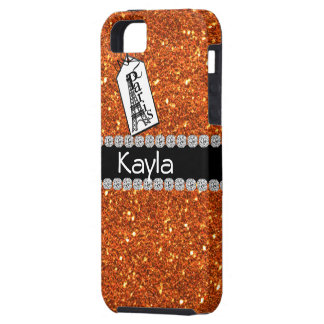 Paris Theme CORAL  BLING IPHONE 5  cover iPhone 5 Cover