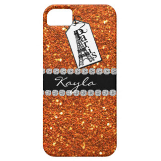Paris Theme CORAL Crystal BLING  IPHONE  5 Case iPhone 5 Cover