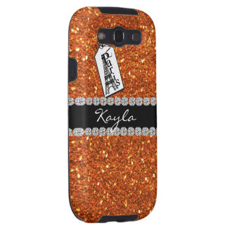 Paris Theme CORAL Crystal BLING  SAMSUNG 3 CASE Samsung Galaxy S3 Case