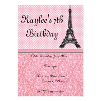 Paris Theme Invitations