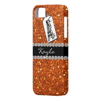 Paris Theme PEACHY  Crystal BLING  IPHONE  5 Case iPhone 5 Cases