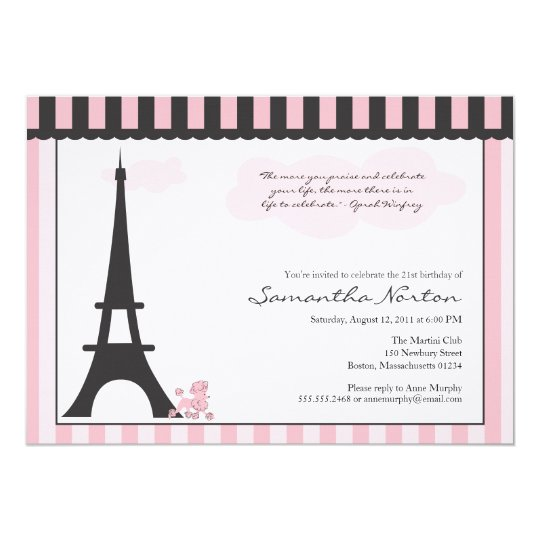 Paris themed birthday invitation zazzle paris themed birthday invitation filmwisefo