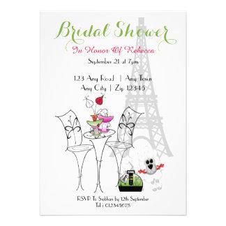 Paris Themed Bridal Shower Invite