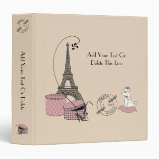 Paris Themed Keepsake One And A Half Inch Binder