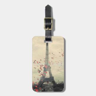 Paris Themed Luggage Tag