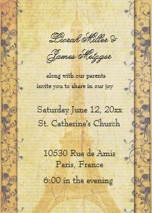 Paris Themed Wedding Invitations | Zazzle