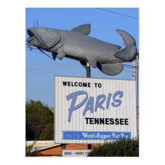 Paris, TN - World's Biggest Fish Fry Postcard