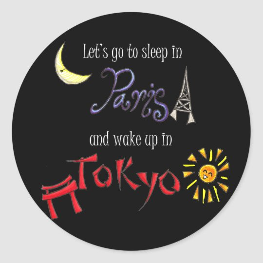Paris Tokyo Classic Round Sticker