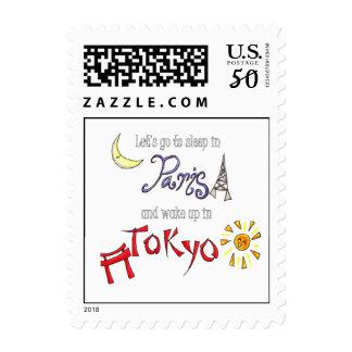 Paris - Tokyo Postage Stamps