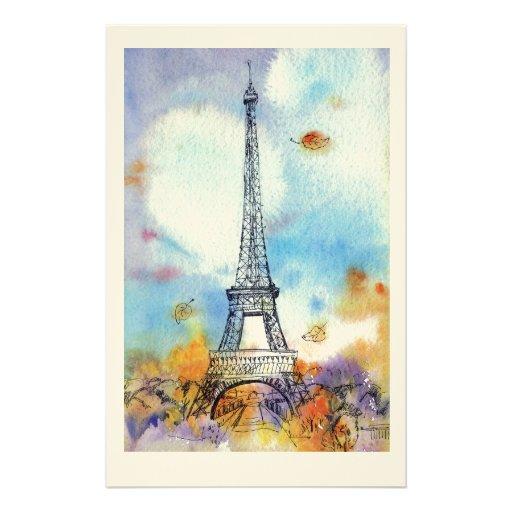 París. Torre de Eiffel Papelería De Diseño