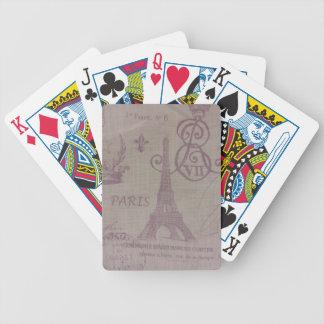 París -- Torre de Eiffle Baraja Cartas De Poker