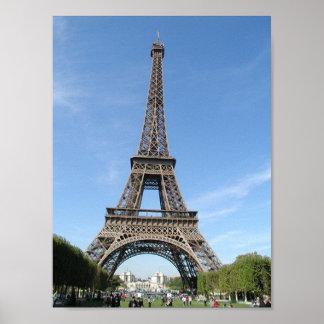 París - torre de Eiffle Póster