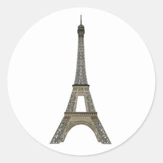 París: Torre Eiffel: Dibujo del vector: Pegatina Redonda