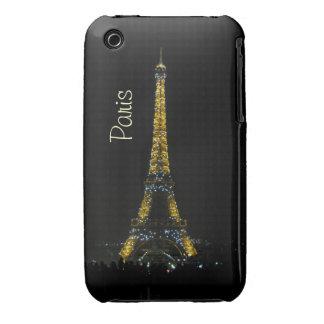 París, torre Eiffel en el caso de la noche iPhone 3 Protector
