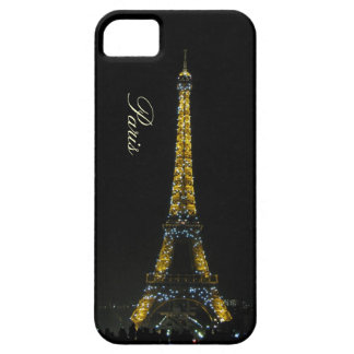 París, torre Eiffel en el caso de la noche iPhone 5 Carcasa