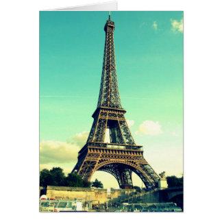 París/torre Eiffel Notecard (espacio en blanco) Tarjeta Pequeña