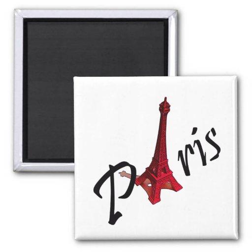 París, torre Eiffel roja Imán