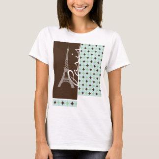 París; Torre Eiffel; Verde salvia y Brown Playera