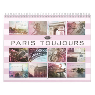 Paris Toujours Photography Calendar