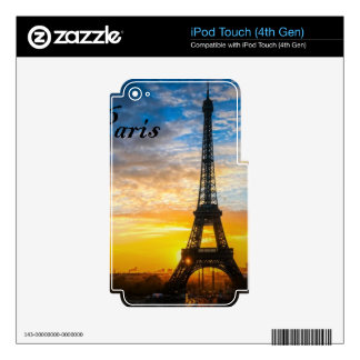 Paris Tour Eiffel in Sunset (St.K) Skin For iPod Touch 4G