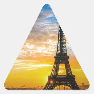 Paris Tour Eiffel in Sunset (St.K) Triangle Sticker