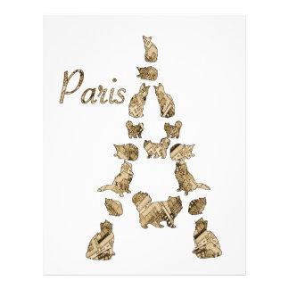 Paris Tower of Cats Letterhead Design