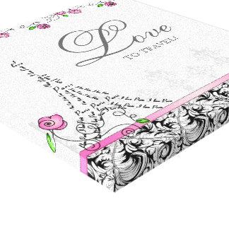 Paris Travel Canvas Print Pink Roses