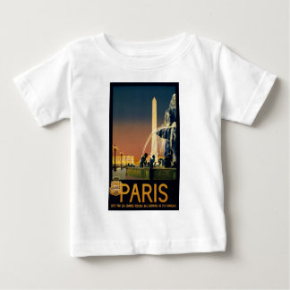 Paris travel poster for French railway networks Baby T-Shirt