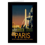 Paris travel poster for French railway networks Greeting Cards