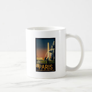 Paris travel poster for French railway networks Classic White Coffee Mug