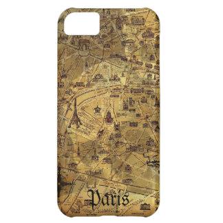 Paris Treasure Map Case For iPhone 5C