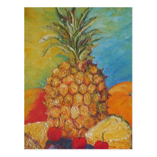 Paris' Tropical Pineapple Postcard