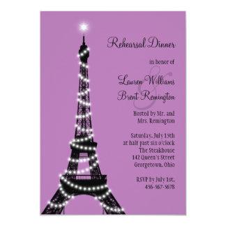 "Paris Twinkles Rehearsal Dinner Invitation 5"" X 7"" Invitation Card"