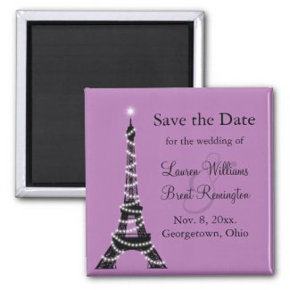 Paris Twinkles Save the Date Magnet