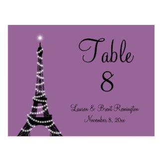 Paris Twinkles Table Number