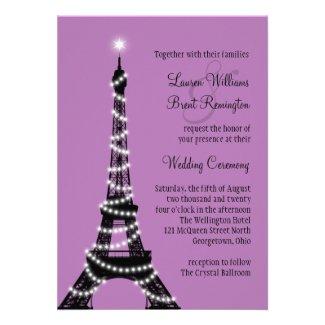 Paris Twinkles Wedding Invitation