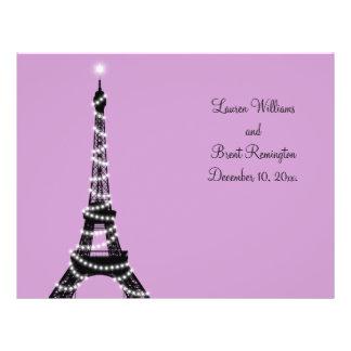 Paris Twinkles Wedding Program