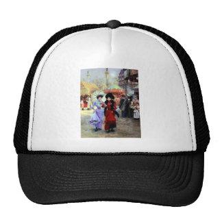 Paris Two Ladies Painting Trucker Hat