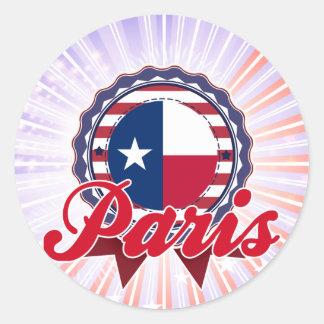 París, TX Pegatina Redonda