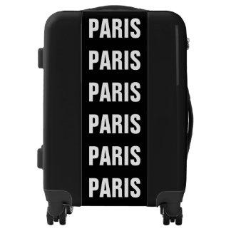 Paris, Typo white Luggage