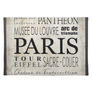Paris Typography - Subway Style Placemat