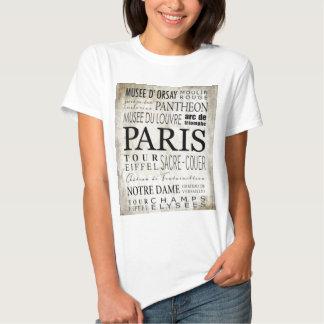 Paris Typography - Subway Style Shirt