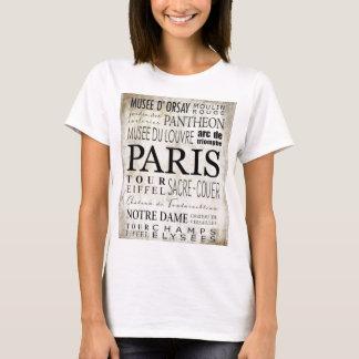 Paris Typography - Subway Style T-Shirt
