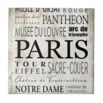 Paris Typography - Subway Style Tile