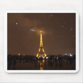 Paris Under The Stars Eiffel Tower Mouse Pad